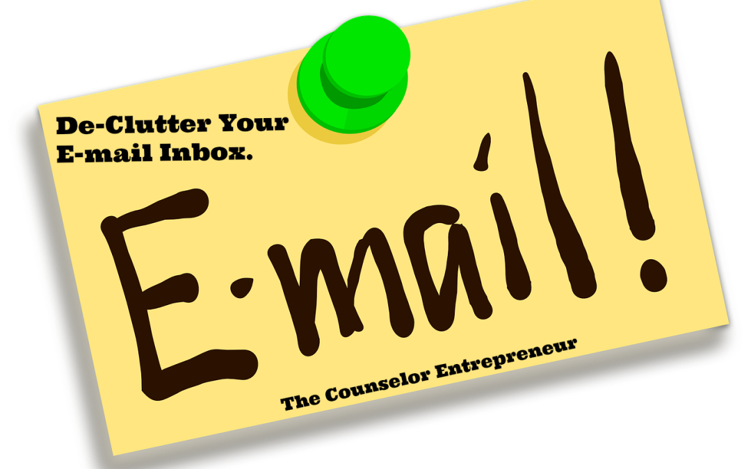 De-clutter Your E-mail Inbox!  Follow These Instructions.
