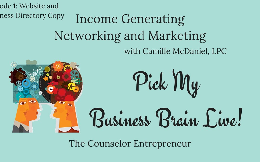 Pick My Business Brain, Episode 1