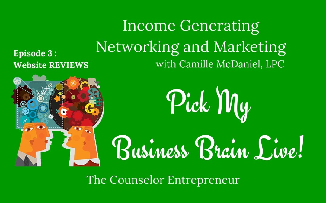 Pick My Business Brain, Episode 3: Website Review pick-my-business-brain-episode-3/